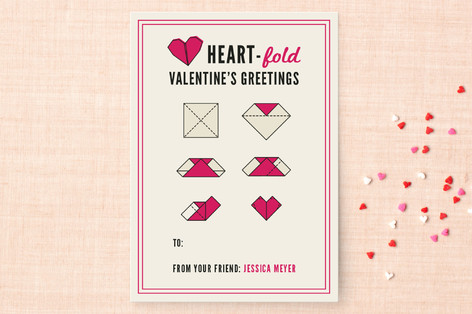 Heartfold Greetings Classroom Valentine's Cards