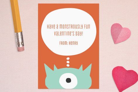 Little Monster Classroom Valentine's Day Cards
