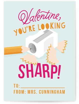 Sharp Student Classroom Valentine's Day Cards