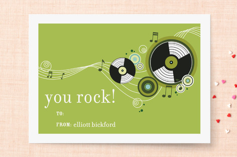 Rock n Roll Classroom Valentine's Day Cards