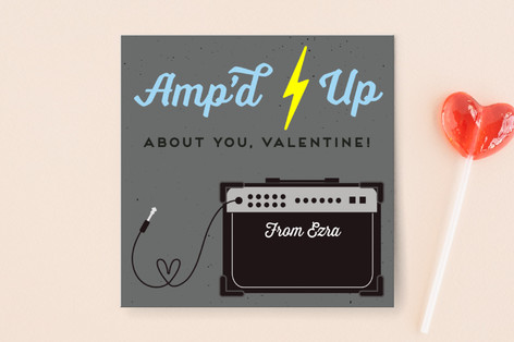 Amp'd Up About You Classroom Valentine's Cards