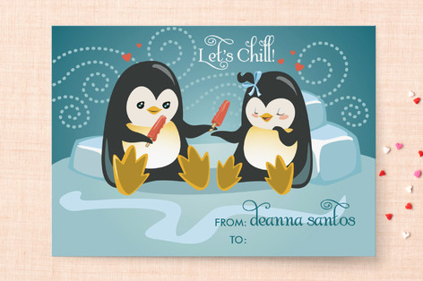 Let's Chill Classroom Valentine's Day Cards