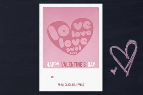 love love love Classroom Valentine's Cards