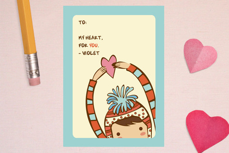 My Heart For You Classroom Valentine's Cards