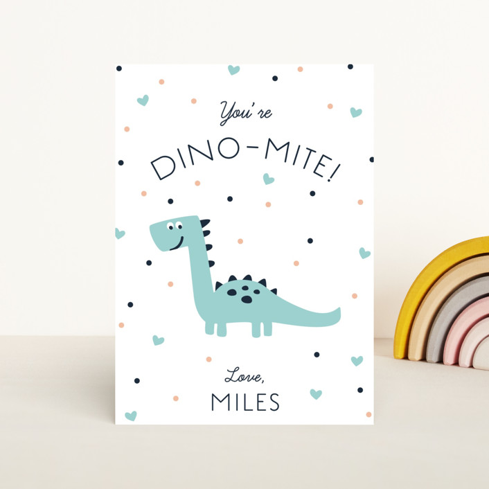 """""""Dinomite"""" - Classroom Valentine's Cards in Pool by Creative Parasol."""