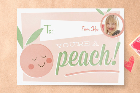 You're a Peach Classroom Valentine's Cards