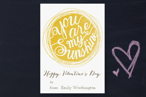 You Are My Sunshine Classroom Valentine's Cards