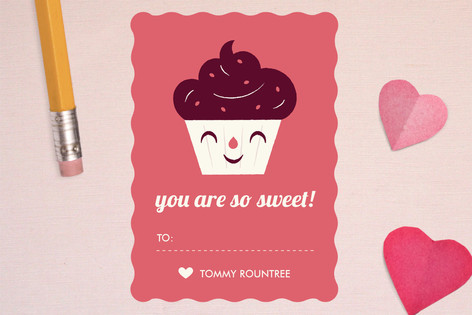 Sweet Cupcake Classroom Valentine's Cards