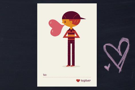 Be Mine Bubblegum Classroom Valentine's Cards