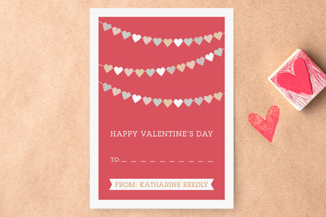 String of Hearts Classroom Valentine's Cards