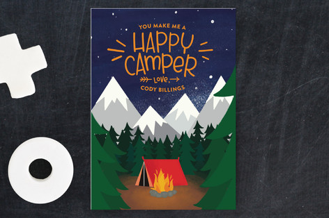 Happy Camping Classroom Valentine's Cards