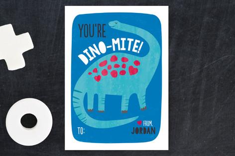 You're Dinomite Valentine! Classroom Valentine's Cards
