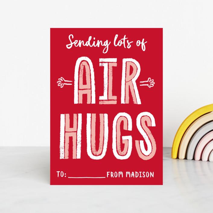 """""""Air Hugs"""" - Classroom Valentine's Cards in Red Apple by Erica Krystek."""