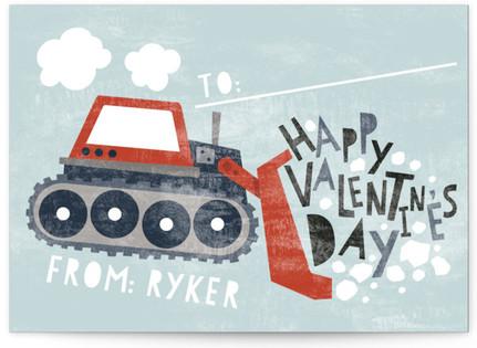 Bulldozer Classroom Valentine's Day Cards