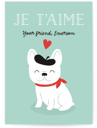 Frenchie Classroom Valentine's Day Cards