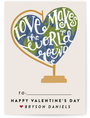 Global Love Classroom Valentine's Day Cards