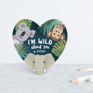 I'm Wild About You Classroom Valentine's Cards