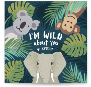 I'm Wild About You Classroom Valentine's Day Cards