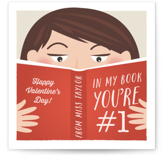 Miss Bookworm Classroom Valentine's Day Cards