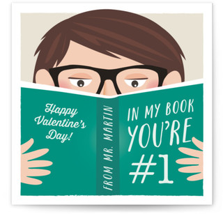 Mr Bookworm Classroom Valentine's Day Cards
