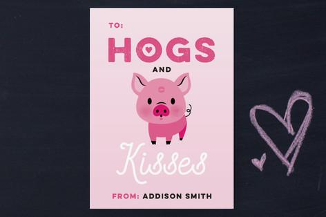 XOXO Piggy Classroom Valentine's Cards