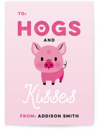 XOXO Piggy Classroom Valentine's Day Cards