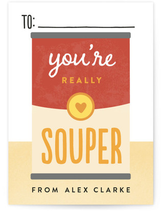 You're Souper Classroom Valentine's Day Cards