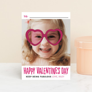 Heart Glasses Classroom Valentine's Cards