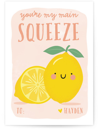 Main Squeeze Classroom Valentine's Day Cards