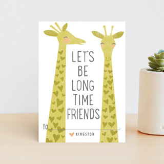 Smiling Giraffes Classroom Valentine's Cards