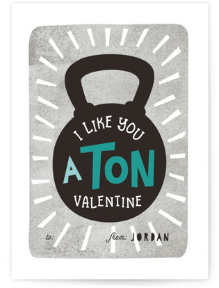 Barbell Valentine Classroom Valentine's Day Cards