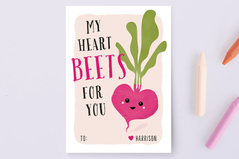 Heart Beet Classroom Valentine's Cards