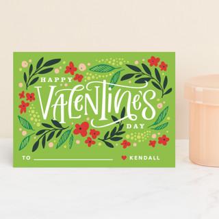Wildflower Valentine Classroom Valentine's Cards