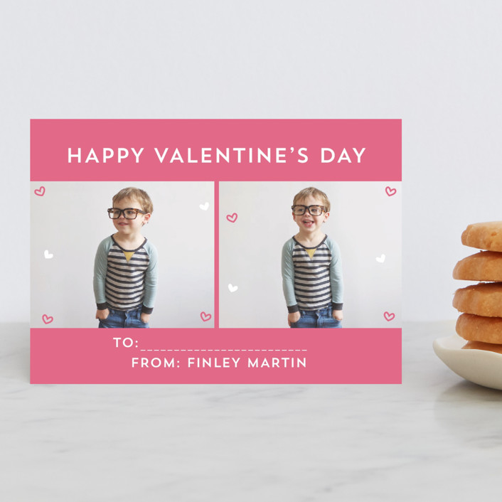 """""""Simple Hearts"""" - Classroom Valentine's Cards in Rose by Sara Showalter."""