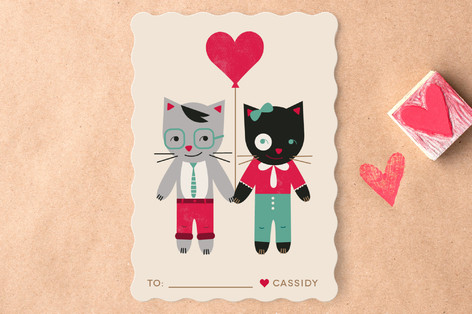Be My Smitten Kitten Classroom Valentine's Cards