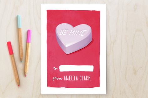 Conversation Heart Classroom Valentine's Cards