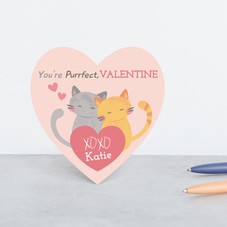 Purrfect Kitties Classroom Valentine's Cards