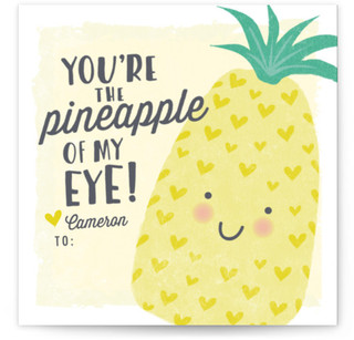 Pineapple Of My Eye Classroom Valentine's Day Cards
