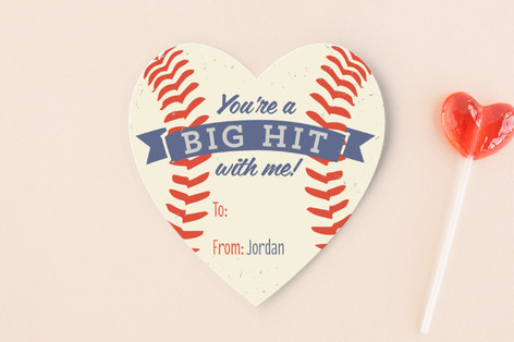 Baseball Hit Classroom Valentines Cards By Alliso Minted
