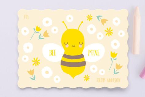 Little Garden Bee Classroom Valentine's Cards