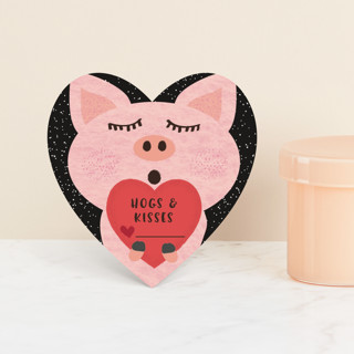 Hogs and Kisses Classroom Valentine's Cards