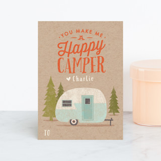 Happy Camper Classroom Valentine's Cards