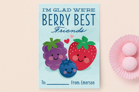 Berry Best Friends Classroom Valentine's Cards