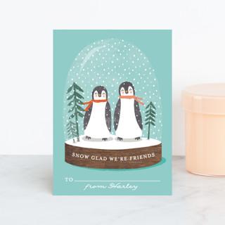 little penguins snowglobe Classroom Valentine's Cards