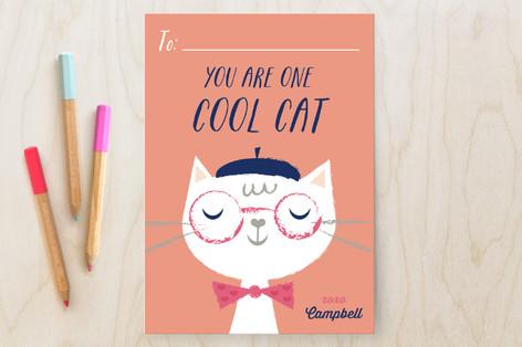 Cool Cat Classroom Valentine's Cards
