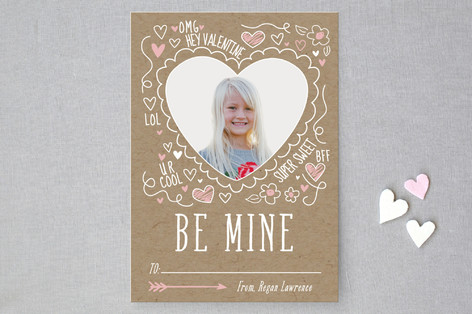 Doodle Valentine Classroom Valentine's Cards