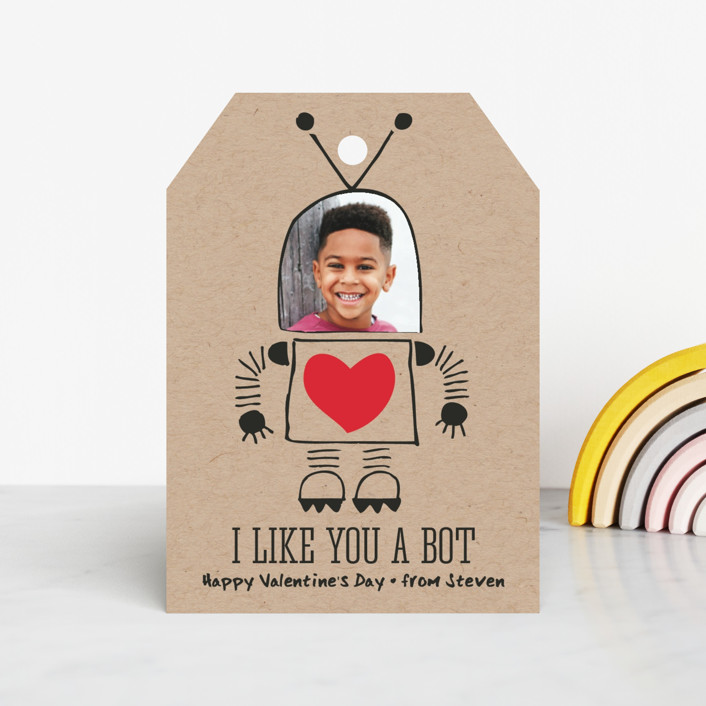 """""""I Like You A Bot"""" - Classroom Valentine's Cards in Cherry by Jen Owens."""