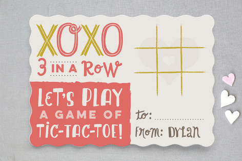 Tic-Tac-Toe Xoxo Classroom Valentine's Cards