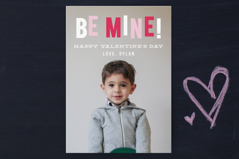 Hanging Be Mine Classroom Valentine's Cards