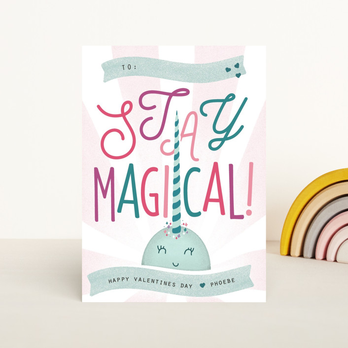 """""""Stay Magical"""" - Classroom Valentine's Cards in Mojito by Kelsey Mucci."""